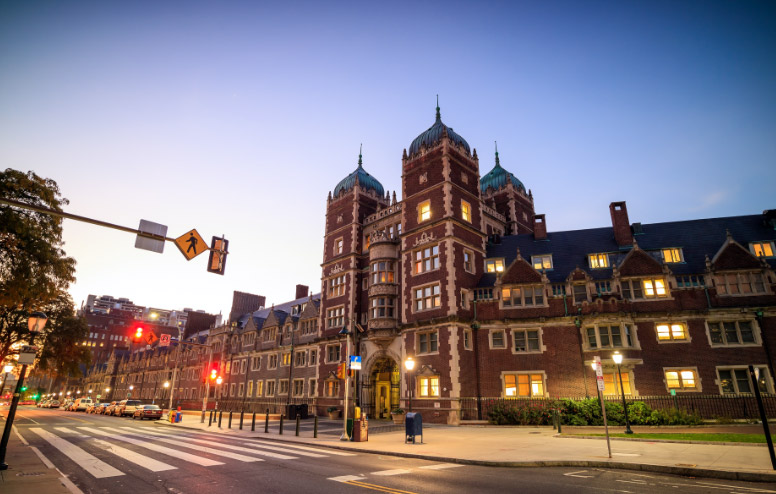 upenn buildings at night